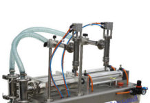 DOUBLE NOZZLE FILLING MACHINE TWO HEADS